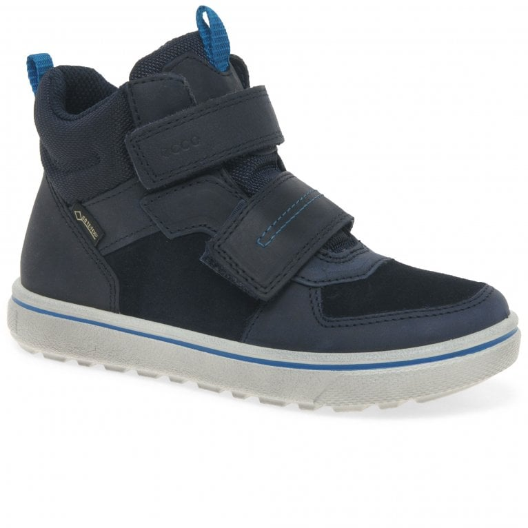 Ecco Glyder Boys GORETEX® Suede Leather Rip Tape Trainer Boots