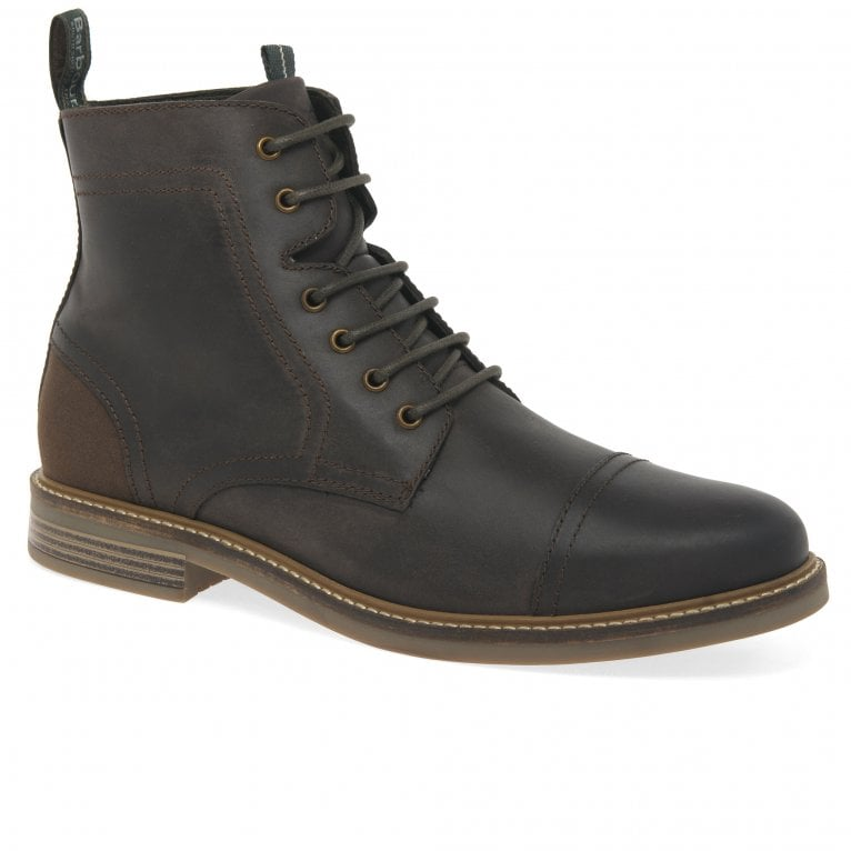 Barbour Dalton Mens Leather Lace Up Military Boots