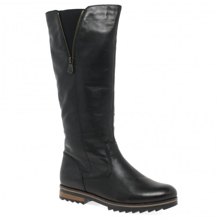 Remonte Holt Womens Long Leather Zip Boots