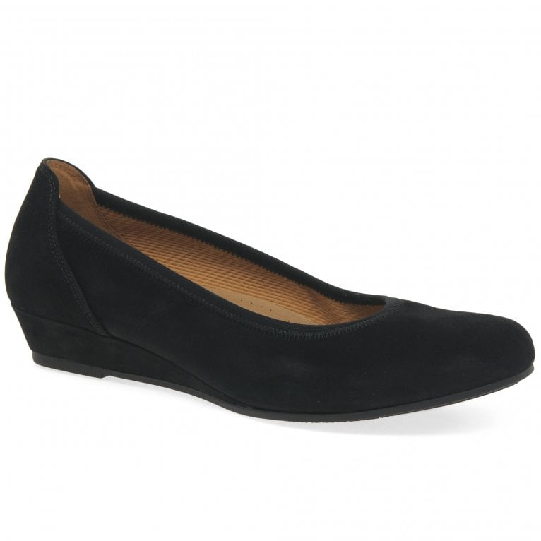 Gabor Chester Womens Wide Fit Low Wedge Pumps