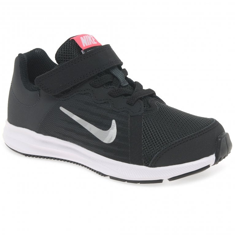 Nike Downshifter Girls Youth Lace Up Rip Tape Sports Trainers