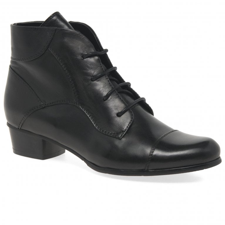 Regarde Le Ciel Stefany 123 Womens Victorian Lace Up Zip Leather Ankle Boots