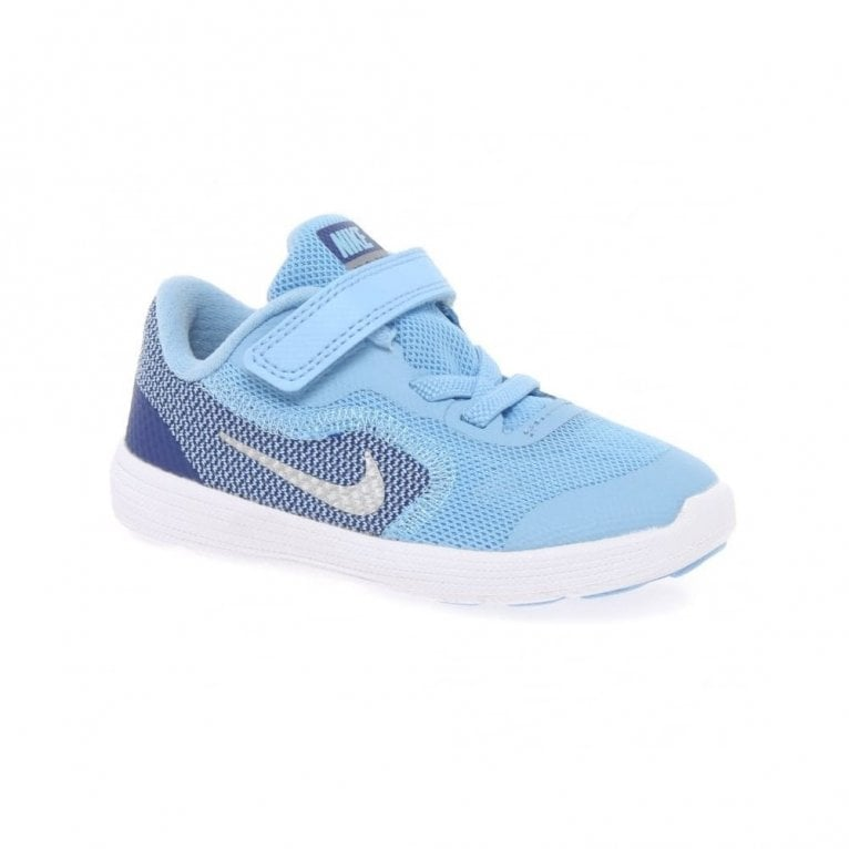 Nike Revolution Velcro Girls Toddler Sports Trainers