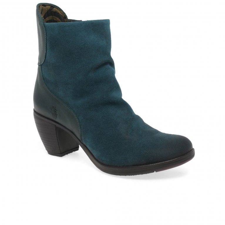 Fly London Hota Womens Suede High Heeled Ankle Boots