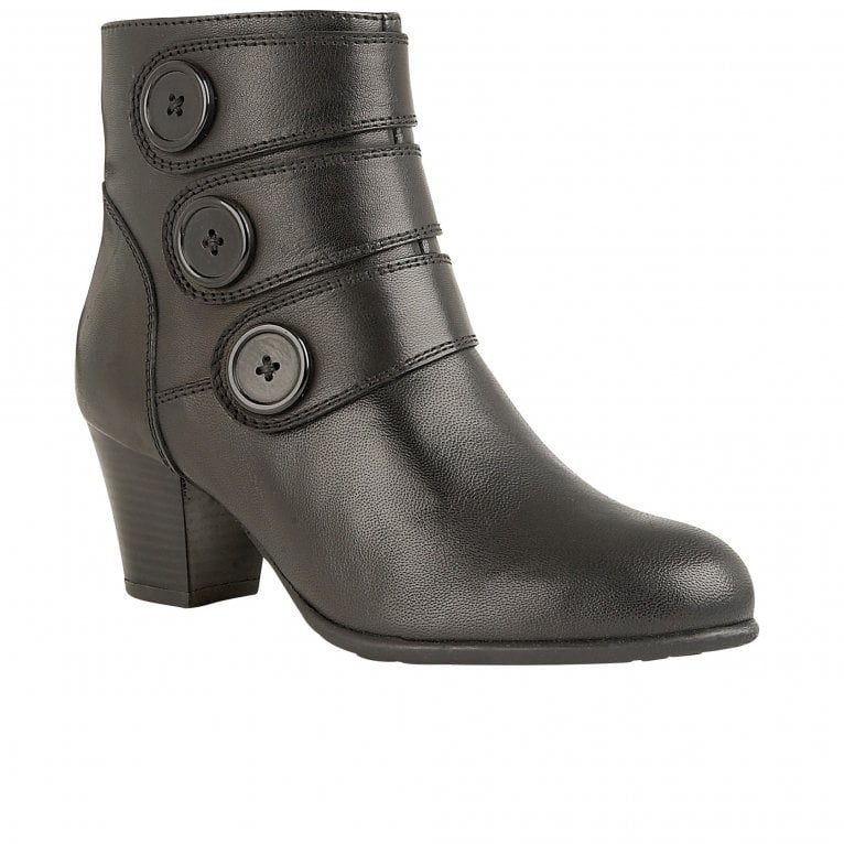 Lotus Locasta Womens Buttoned Ankle Boot