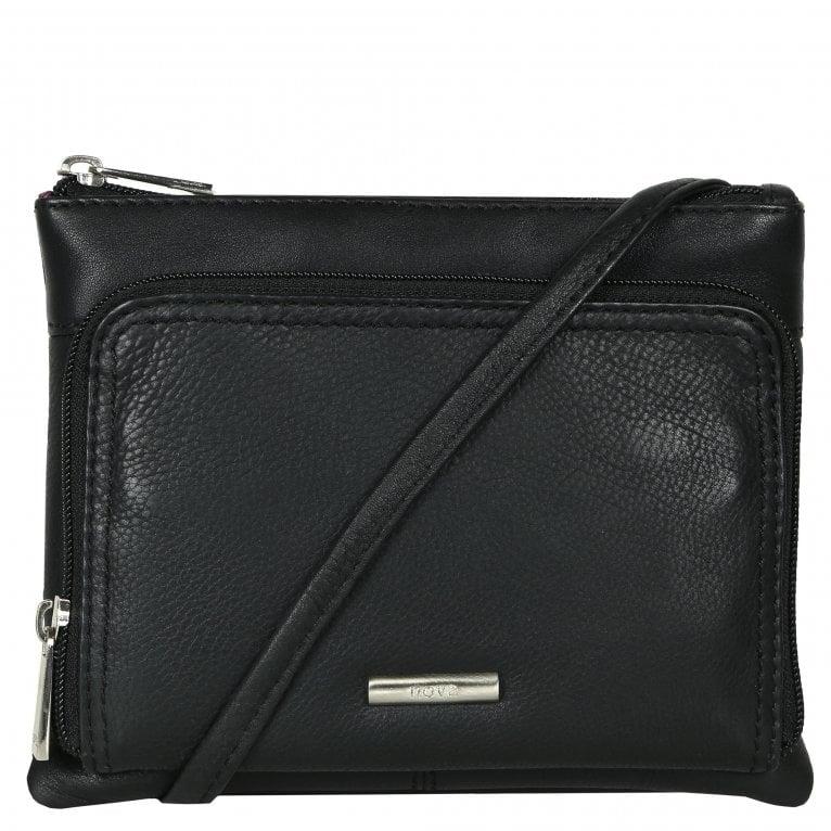 Nova Leathers Veronica Womens Compact Leather Messenger Handbag