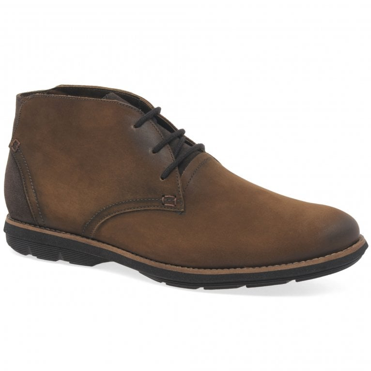Savelli Sync Mens Nubuck Leather Lace Up Chukka Ankle Boots
