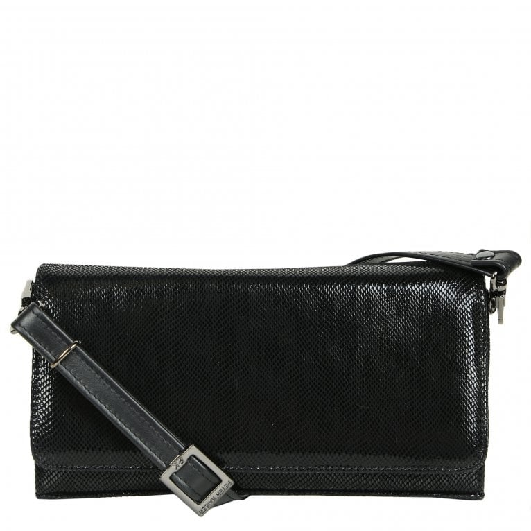 Peter Kaiser Lanelle Womens Textured Leather Clutch Shoulder Bag