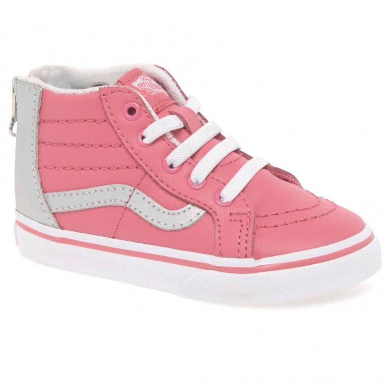Vans SK8 Hi Zip Girls Leather All Weather Toddler Trainer Boots