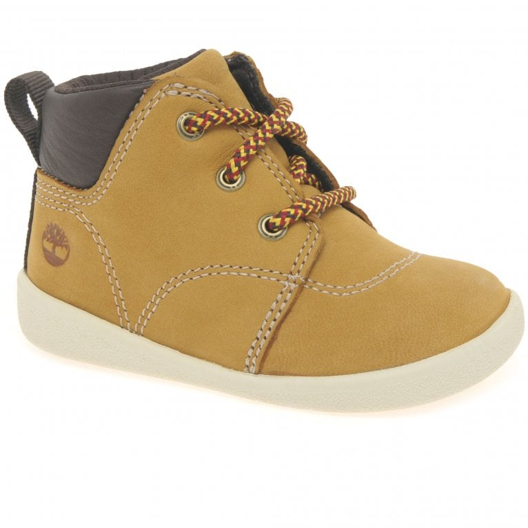 Timberland Tree Sprout Boys First Nubuck Leather Lace Boots