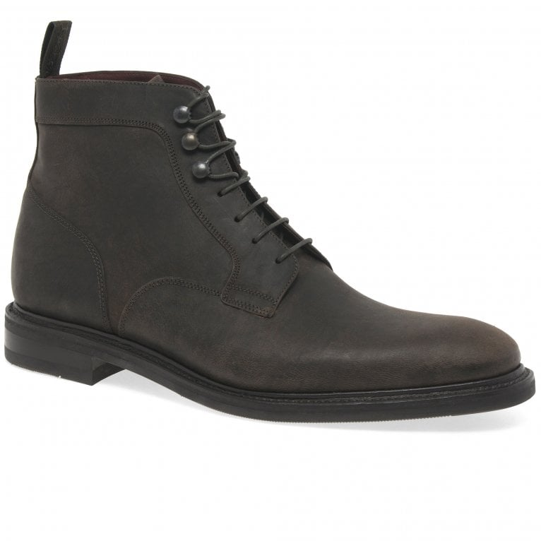 Loake Crow Mens Waxed Nubuck Leather Lace Up Ankle Boots