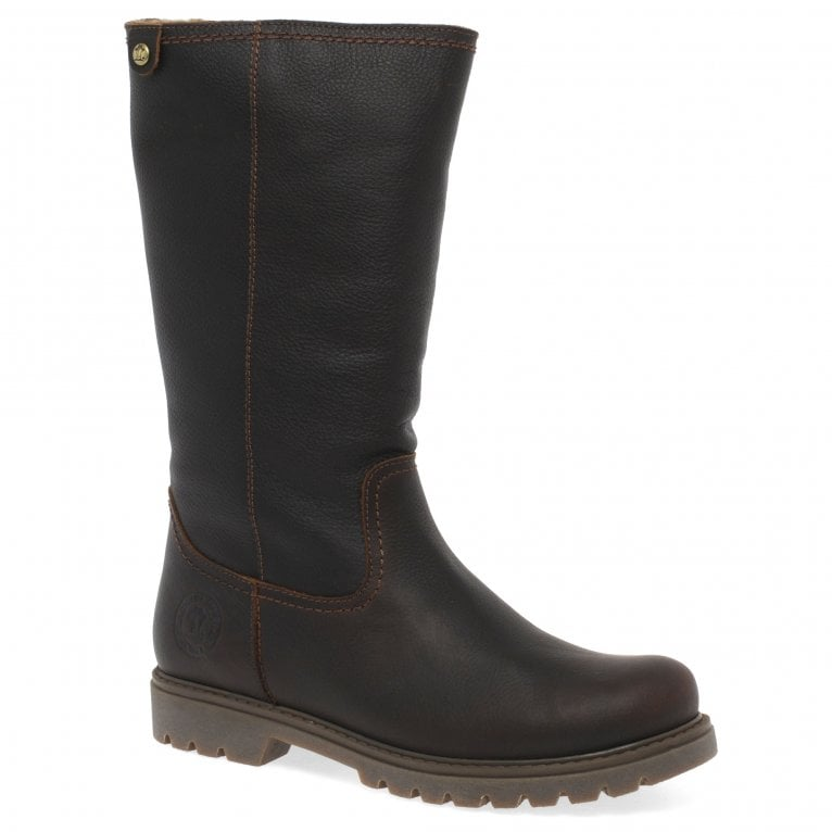 Panama Jack Bambina B82 Womens Waterproof Leather Warm Lined Long Boots