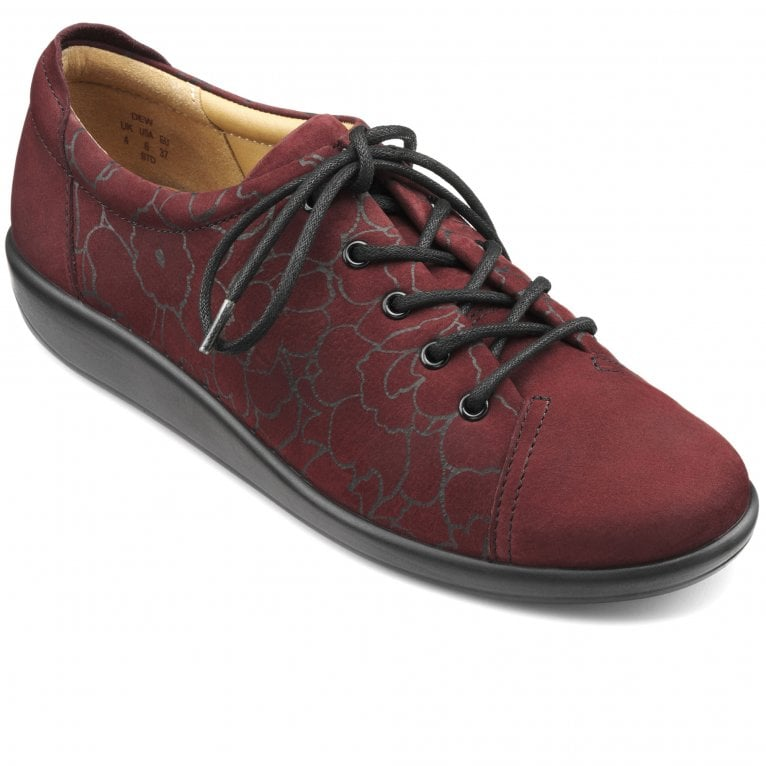 Hotter Dew Womens Casual Lace-Up Wide Fit Shoe