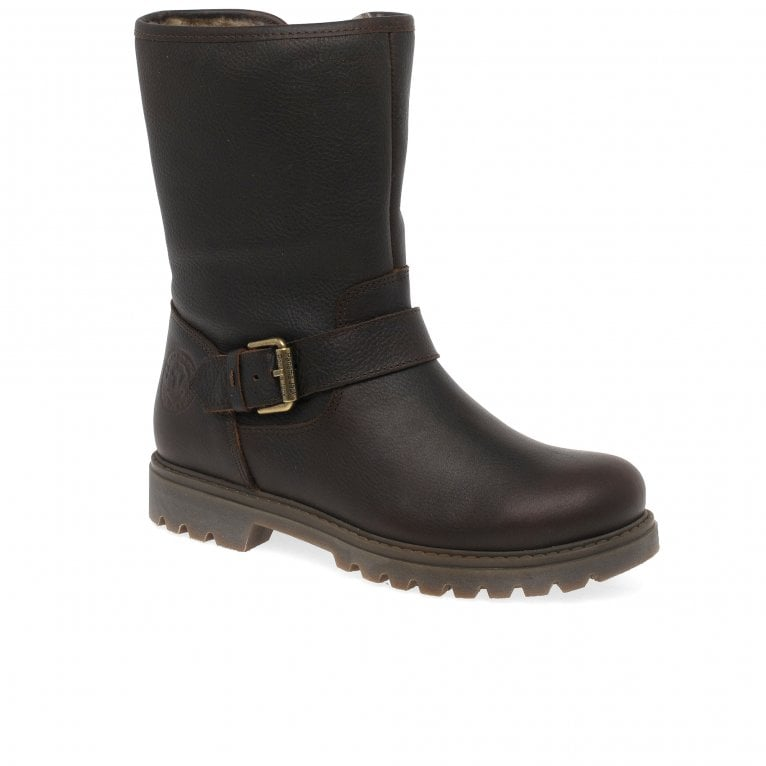 Panama Jack Singapur B23 Womens Waterproof Nappa Leather Biker Ankle Boots