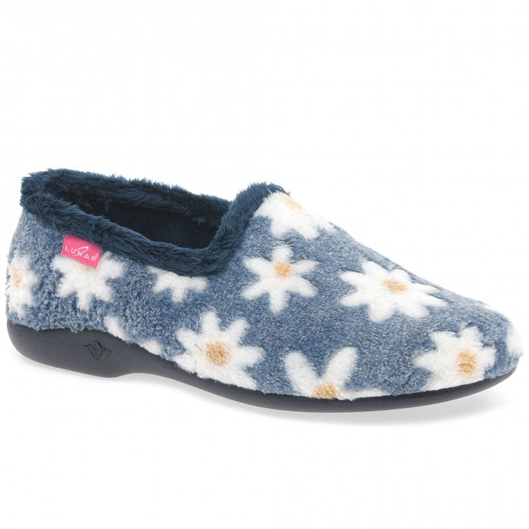 Lunar Primula Womens Cosy Flower Full Slippers