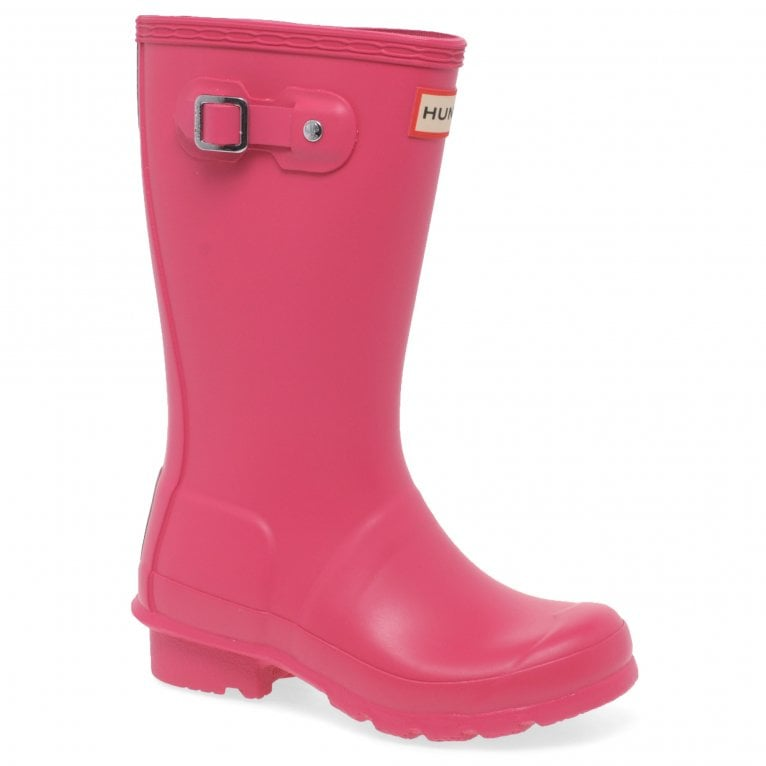 Hunter Original Girls Matte Finish Waterproof Wellington Boots