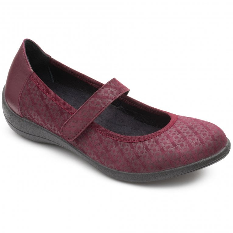 Padders Robyn Womens Leather Rip Tape Mary Jane Shoes