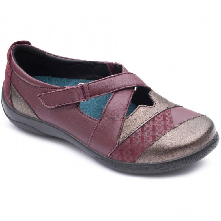 Padders Basset Womens Cross Over Strap Shoe