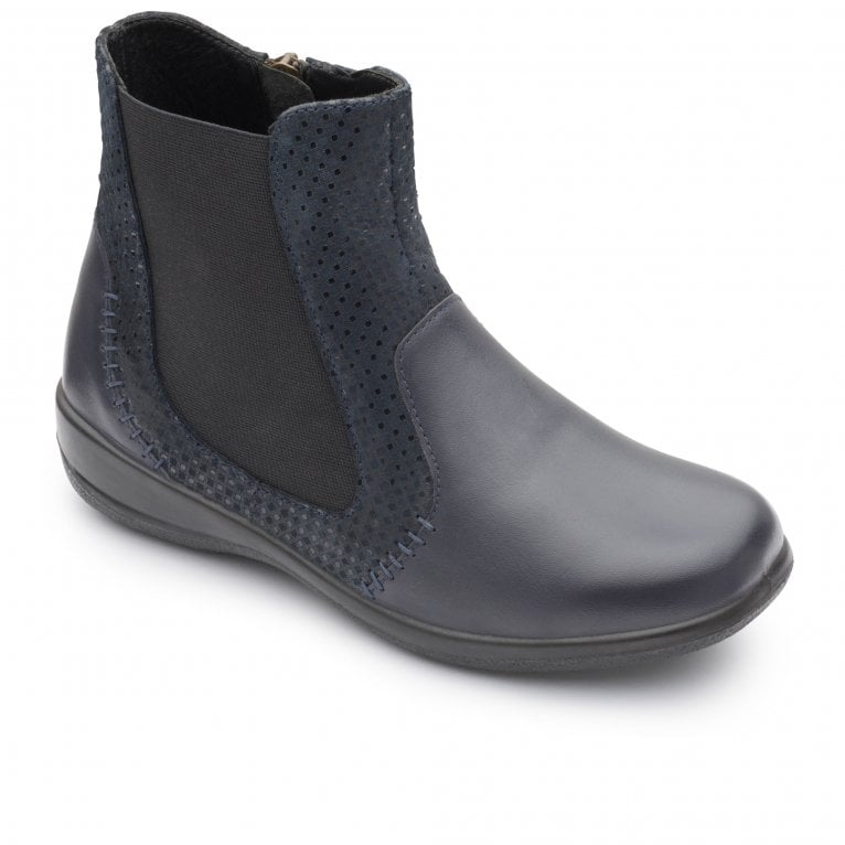 Padders Margot Womens Leather Multi Panel Zip Ankle Boots
