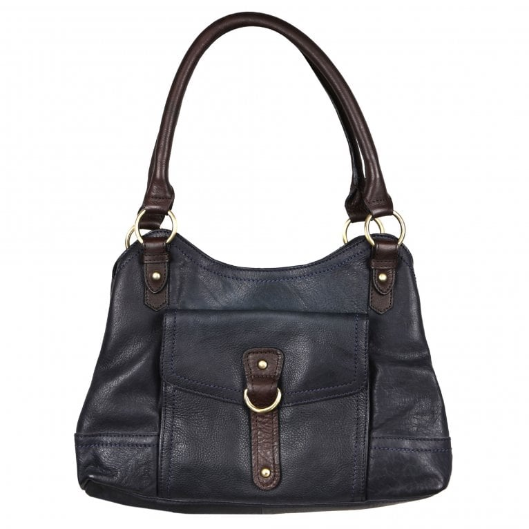 Bolla Fern Womens Two Tone Leather Shoulder Bag