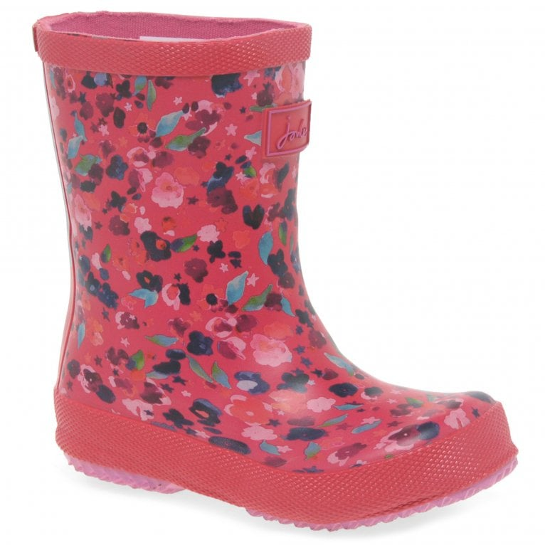Joules Baby Girls Rubber Print Wellington Boots