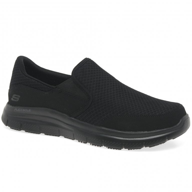 Skechers Flex Advantage Senior Mcallen Slip On Work Trainer Shoes