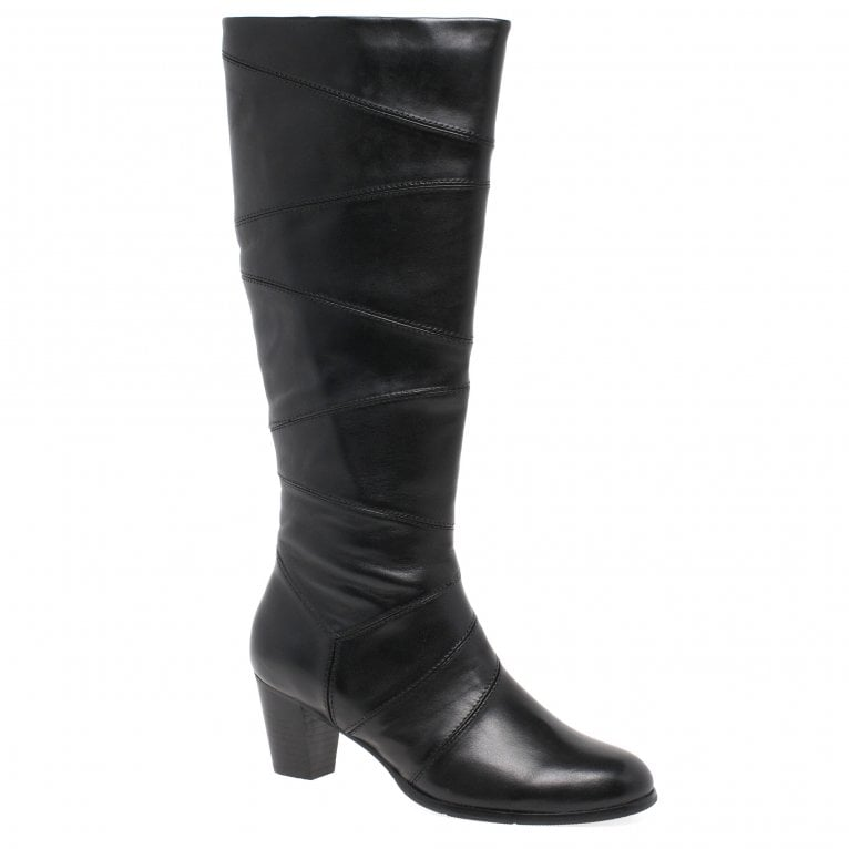 Regarde Le Ciel Sonia 17 Womens Leather Patchwork Heeled Long Boots