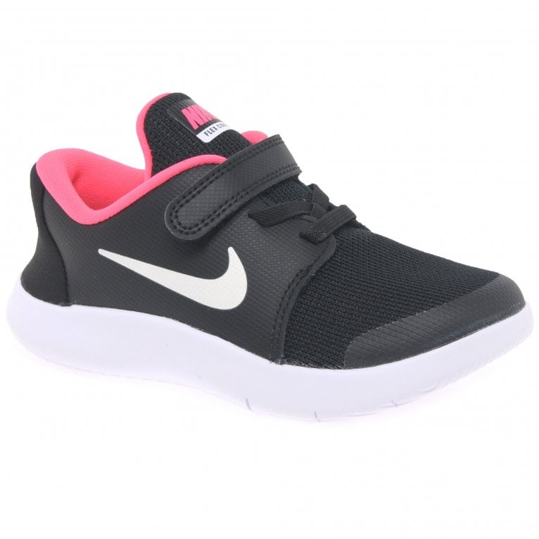Nike Flex Contact 2 Girls Toddler Lace Rip Tape Sports Trainers