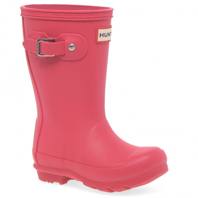 Hunter Original Girls Classic Matte Pink Wellington Boots