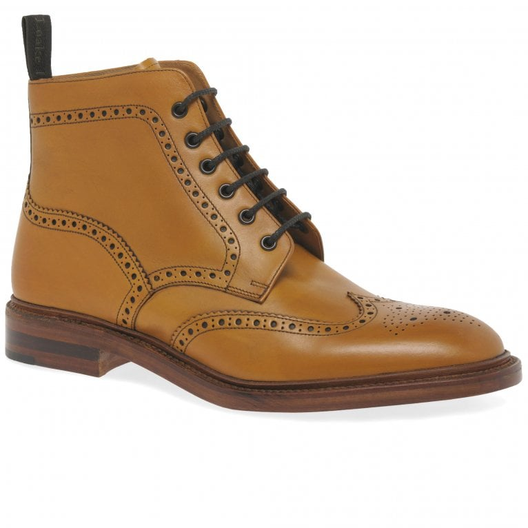 Loake Burford Brogue Leather Boots