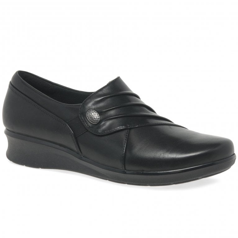 Clarks Hope Roxanne Womens High Cut Ruched Leather Shoes