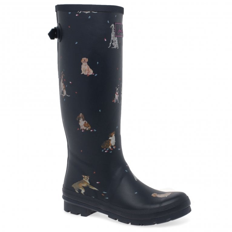 Womens Printed Classic Adjustable Rubber Wellington Boots