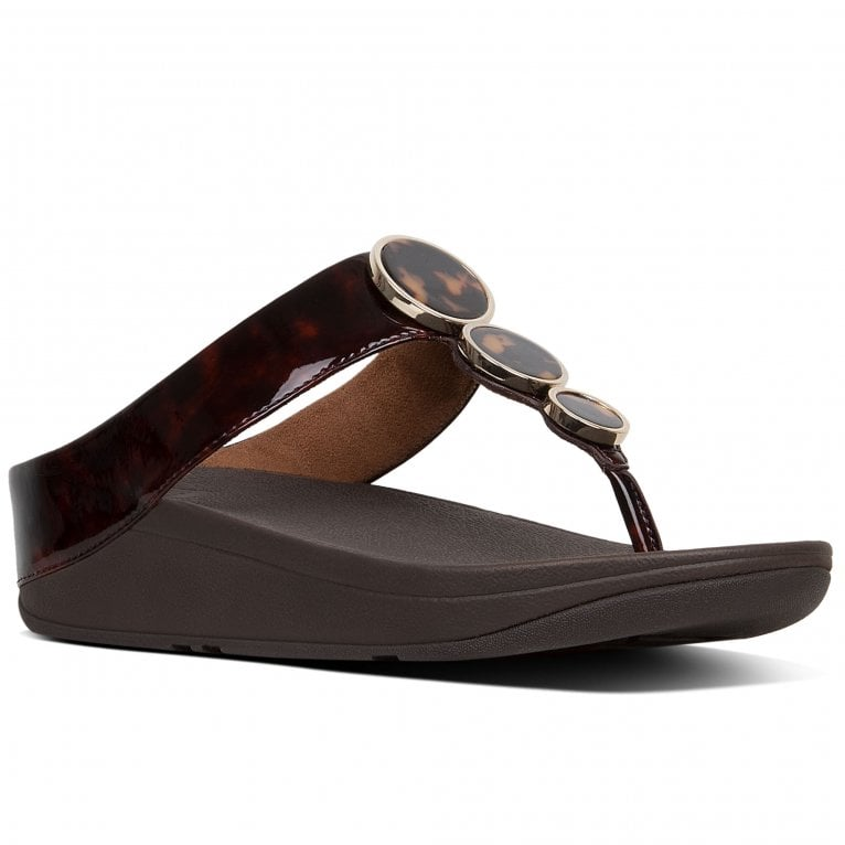 FitFlop™ Halo Tortoiseshell Womens Toe Post Sandals