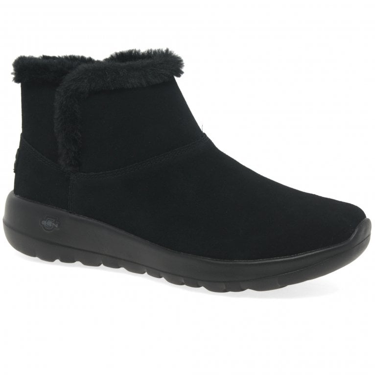Skechers On The Go Joy Womens Casual Suede Ankle Boots