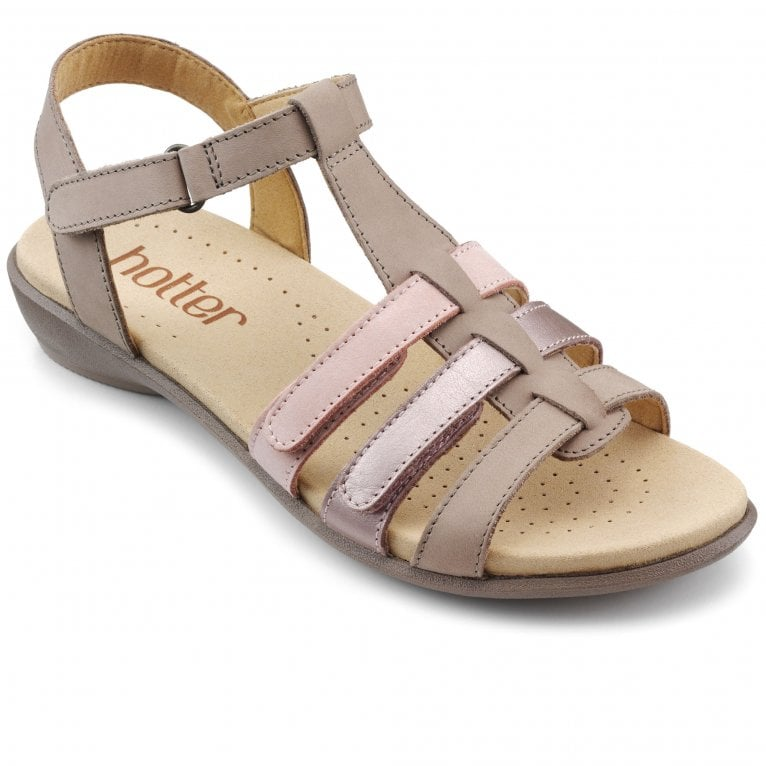 Hotter Sol Womens Wide Fit T-Bar Sandals