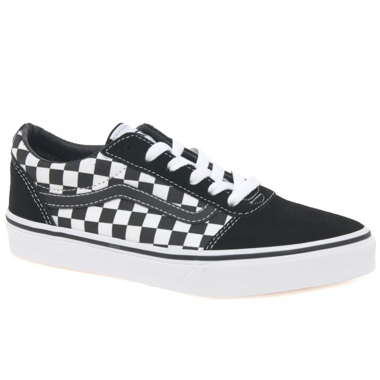 Vans Ward Lace Kids Youth Checkered Canvas Trainers