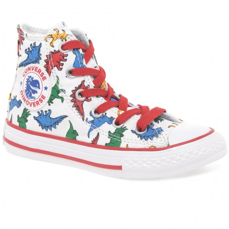 Converse All Star Dinosaur Kids Hi Top Canvas Boots