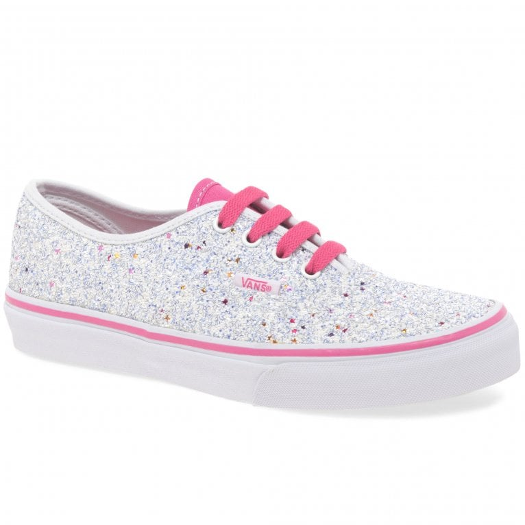 Vans Authentic Youth Lace Glitter Girls Canvas Shoes