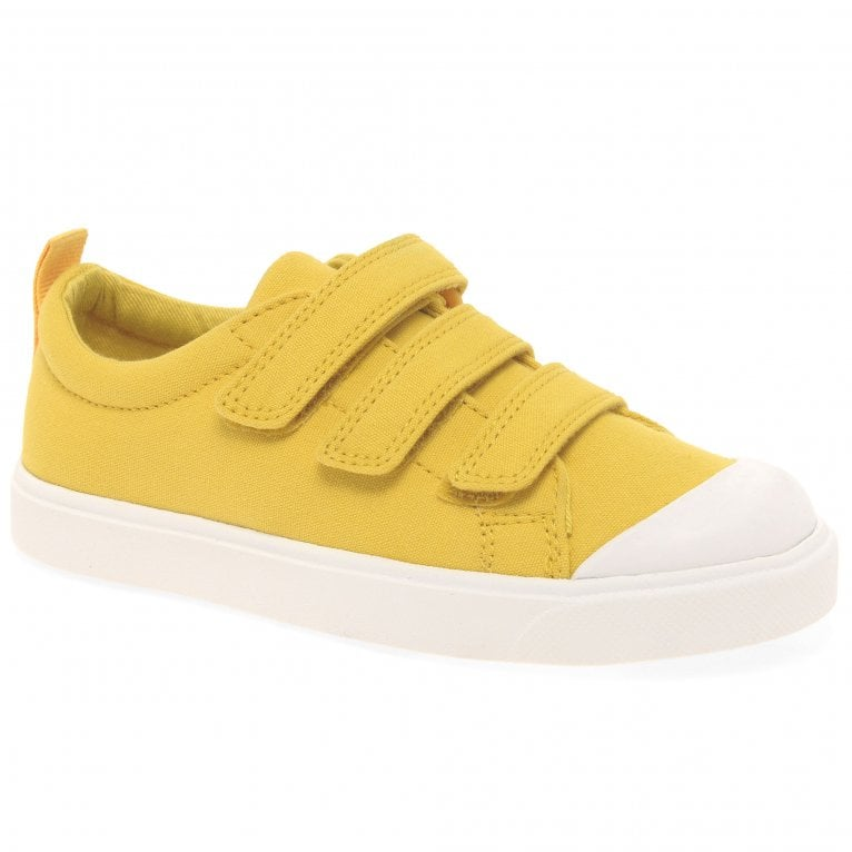 Clarks City Flare Lo K Kids Canvas Shoes