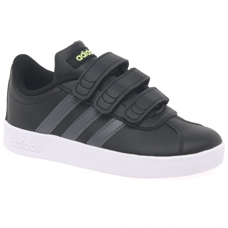 Adidas VL Court 2 Kids Riptape Trainers