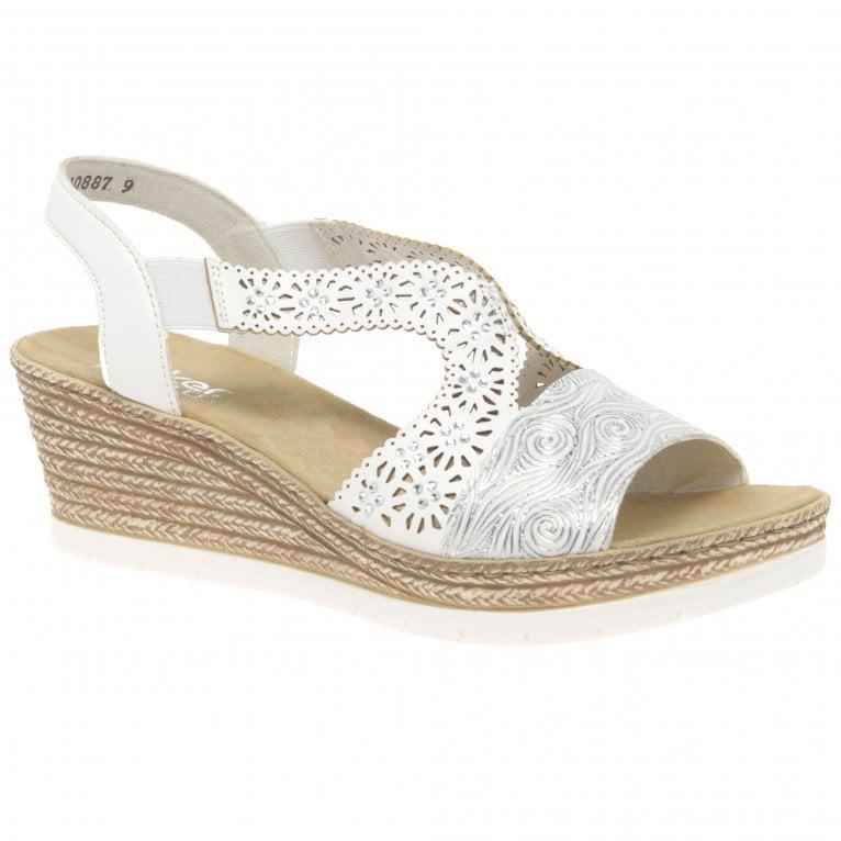 Rieker Alabama Womens Wedge Heel Sandals
