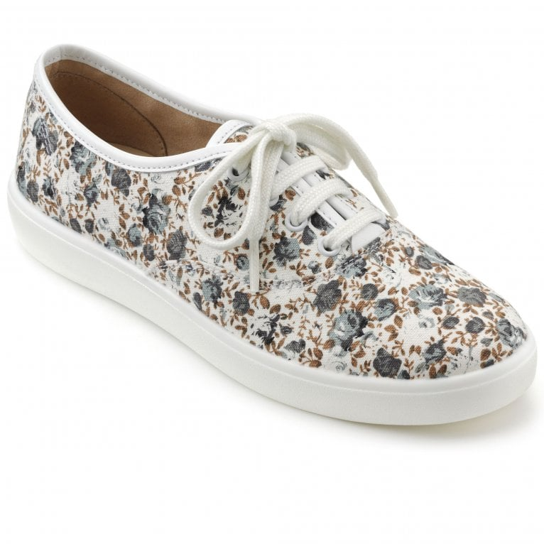Hotter Mabel Womens Extra Wide Fitting Canvas Shoes