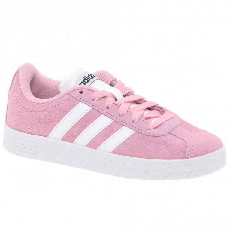 Adidas VL Court 2.0K Lace Girls Sports Trainers