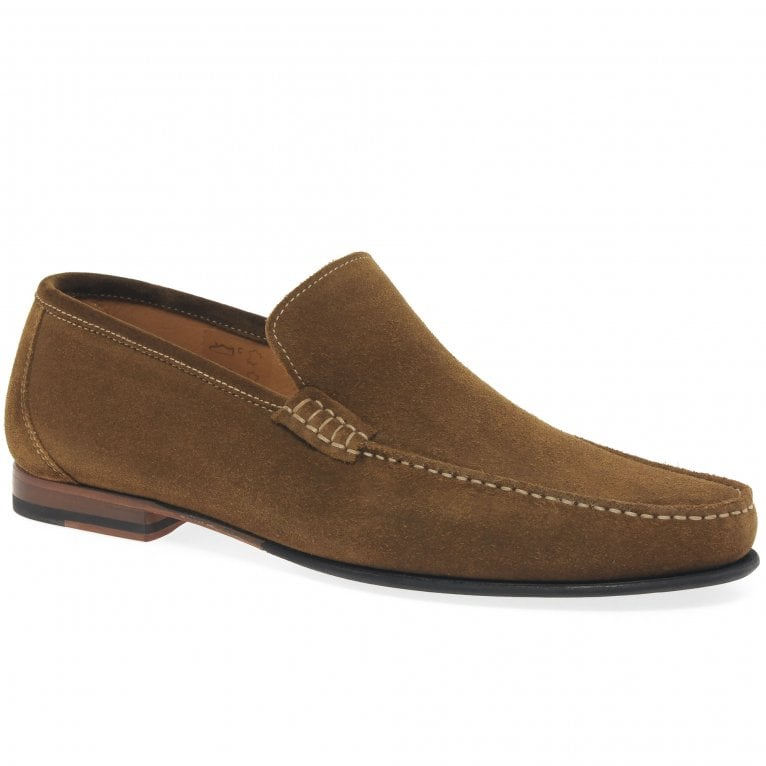 Loake Nicholson Mens Suede Moccasin Shoes