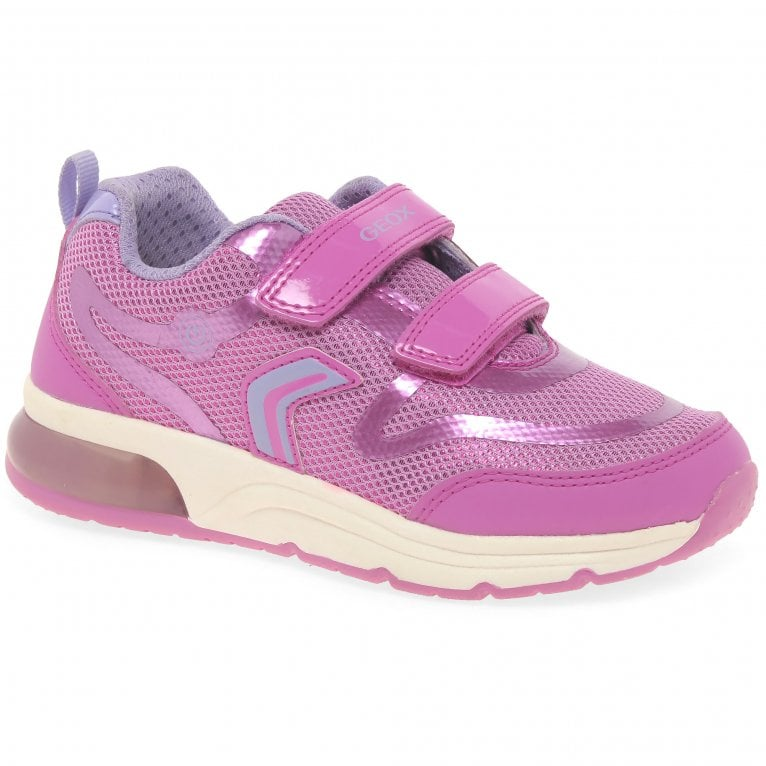 Geox Junior Space Club Double Riptape Girls Sports Trainers