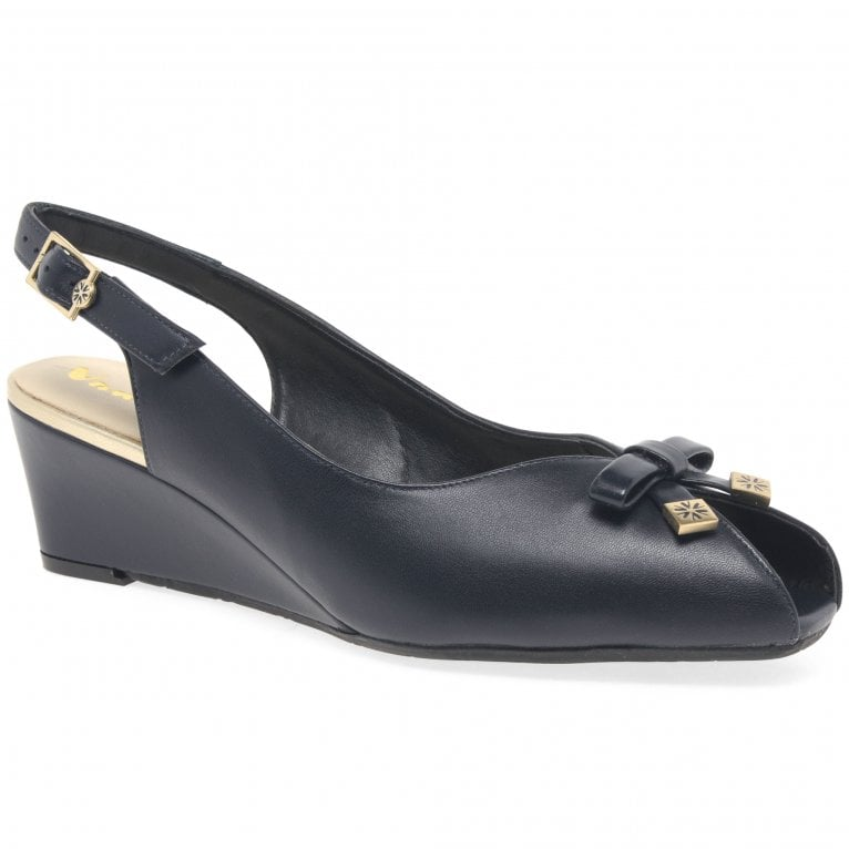 Van Dal Meade Womens Peep Toe Slingback Shoes