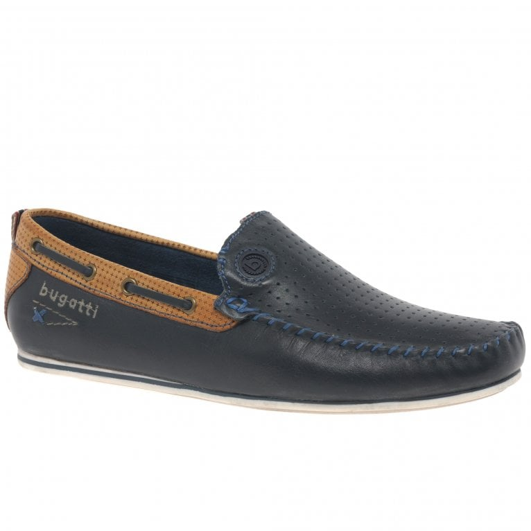 Bugatti Benjy Mens Leather Boat Shoes