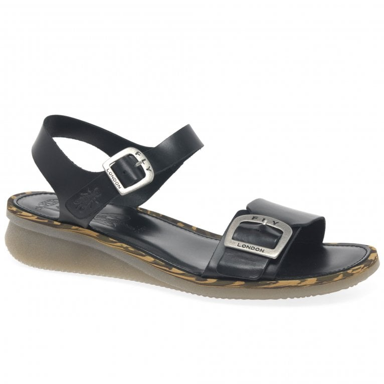 Fly London Comb Womens Low Wedge Heel Sandals