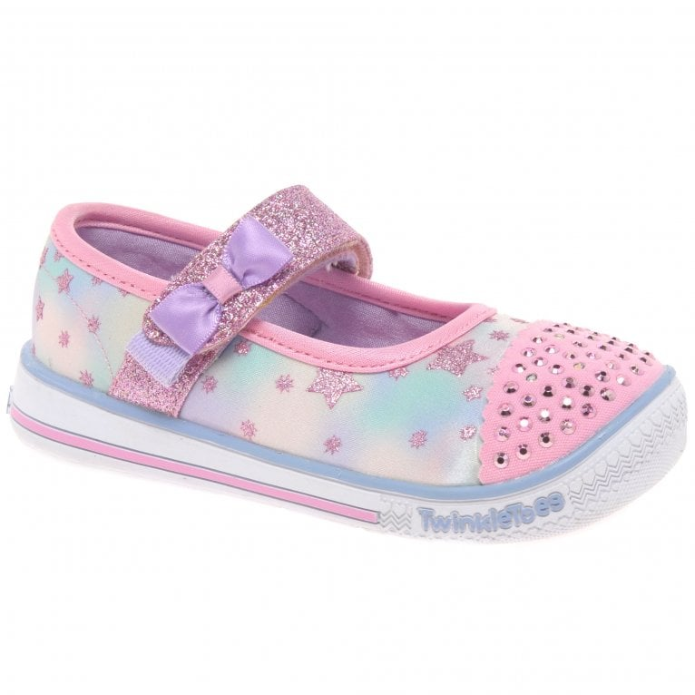 Skechers Twinkle Play Girls Mary Jane Shoes