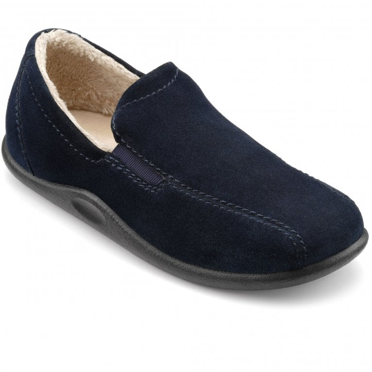 Hotter Relax Mens Warm Lined Slippers